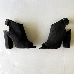 Aldo open toe block heel booties